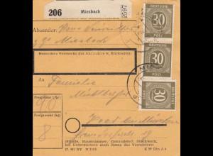 BiZone Paketkarte 1948: Miesbach nach Haar München