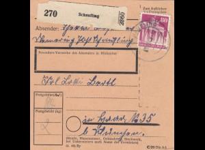 BiZone Paketkarte 1948: Thanning Post Schaufling nach Haar