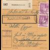 BiZone Paketkarte 1948: Krumbach nach Heil- und Pflegeanstalt Haar