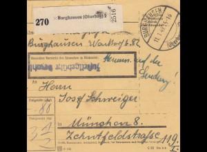 BiZone Paketkarte 1949: Burghausen nach München, Inhalt - Auf der Sendung !!!