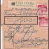 BiZone Paketkarte 1948: Riedering nach Haar, Nachgebühr, Wertkarte