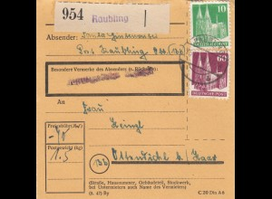 BiZone Paketkarte 1948: Raubling nach Ottendichl