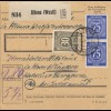 BiZone Paketkarte 1948: Altena (Westf.) nach Haar