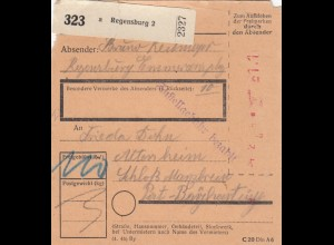 BiZone Paketkarte: Regensburg nach Schloss Maxlrain, Post Beyharting