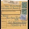 BiZone Paketkarte 1948: Berlin-Lichterfelde nach Post München-Haar
