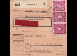 BiZone Paketkarte: Rosenheim 2 nach Feilnbach, Durch Eilboten