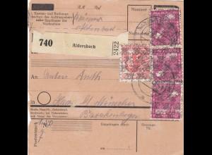 BiZone Paketkarte 1948: Aldersbach nach Haar bei München