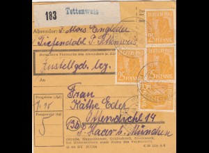 BiZone Paketkarte 1948: Tiefendobl Tettenweis nach Ottendichl