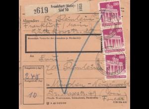 BiZone Paketkarte 1948: Frankfurt Süd nach Neugrünwald