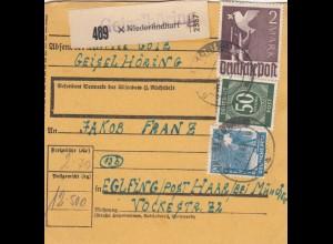 BiZone Paketkarte 1948: Niederlindhart nach Eglfing