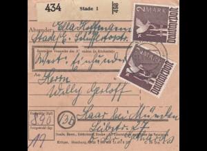 BiZone Paketkarte 1948: Stade 1 nach Haar, Wertkarte