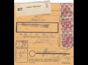 BiZone Paketkarte 1948: Bäckerei Endorf nach Gräfeling Post Haar