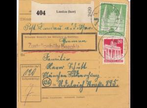 BiZone Paketkarte 1948: Landau nach Feldmoching