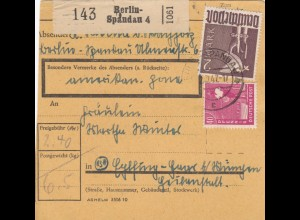 BiZone Paketkarte 1948: Berlin-Spandau nach Eglfing