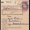 BiZone Paketkarte 1948: Pfeffenhausen nach Haar bei München