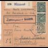 BiZone Paketkarte 1947: Prienbach Wittibreut nach Haar