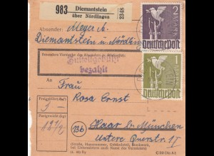 BiZone Paketkarte 1948: Diemantstein nach Haar