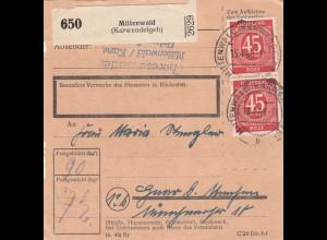 BiZone Paketkarte 1948: Mittenwald nach Haar