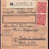BiZone Paketkarte 1948: Wald Alz über Mühldorf nach Haar