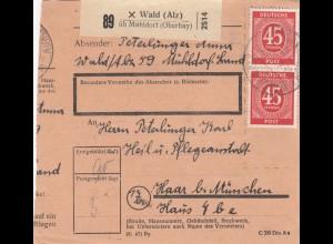 BiZone Paketkarte: Wald über Mühldorf nach Haar