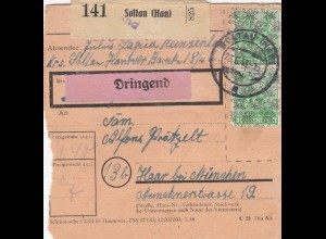 BiZone Paketkarte 1948: Soltau nach Haar, Dringend