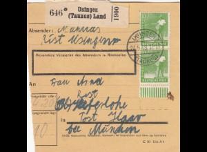BiZone Paketkarte 1948: Usingen Taunus nach Keferloh Haar
