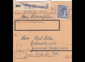 BiZone Paketkarte 1948: Hebertsfelden über Eggenfelden nach Gmund