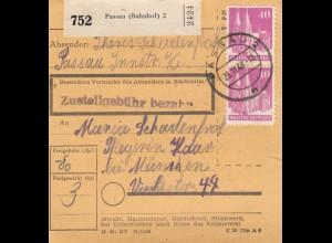 BiZone Paketkarte 1948: Passau nach Haar bei München, Pflegerin