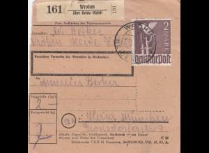 BiZone Paketkarte 1948: Wrohm Heide nach Haar