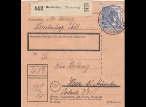BiZone Paketkarte 1948: Breitenberg nach Haar München
