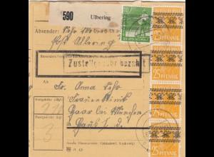 BiZone Paketkarte 1948: Ulbering nach Haar bei München, Frauenklinik
