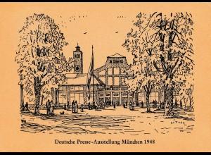 Thematik: Ausstellung: Deutsche Presse-Ausstellung München 1948, Sonderstempel