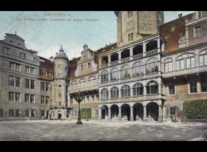 Ansichtskarte Dresden 1909: Stempel: 3. D. Kunstgewerbeausstellung Germania