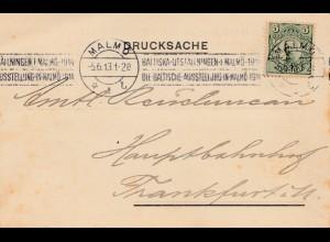 Malmö- Baltische Ausstellung 1913 nach Frankfurt: Nordisches Verkehrs Reisebüro