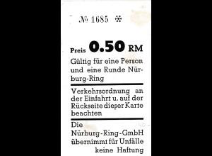 Karte für 1 Runde auf dem Nürburgring, 0,50 RM - Nürburgring GmbH