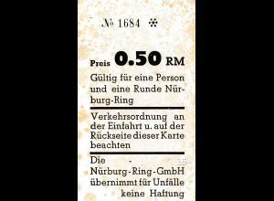 Karte für 1 Runde auf dem NÜrburgring, 0,50 RM