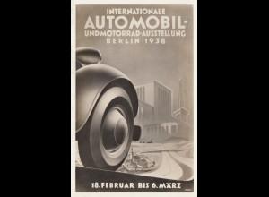 Sonder AK von der Internat. Automobil Ausstellung Berlin 1938 mit Funkmasten