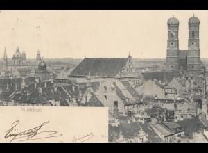 AK München Internat. Automobil Ausstellung Berlin 1906 seltener Stempel
