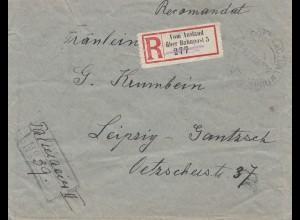 Brief aus Rumänien per Einschreiben: Vom Ausland über Bahnpost nach Leipzig 1932