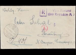 Einschreiben aus Slovenien nach Straubing 1921