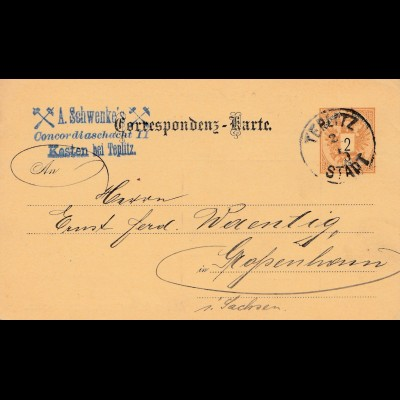 Bergbau: Concordia Schacht II, Kosten 1890