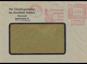 Bergbau: Zwickau, Freistempel, Sächsische Steinkohle 1936, Oberbürgermeister
