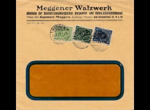 Bergbau: Meggener Walzwerk, Deutsch-Luxemburg 1923