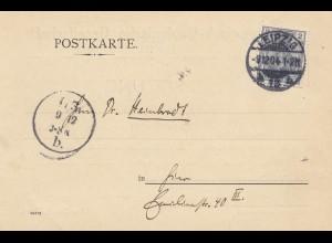 Postkarte Leipzig 1904, Mineralogisch Geologische Gesellschaft: Sitzung