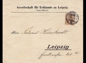 Bergbau: Brief der Gesellschaft für Erdkunde Leipzig 1911