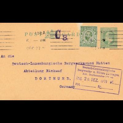 Bergbau: PC Morgen Crucible Company London, Battersea Works, 1911 nach Dortmund