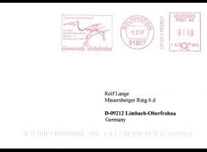 Bergbau: 1997: Gemeinde Solnhofen, Flugechse, Museum