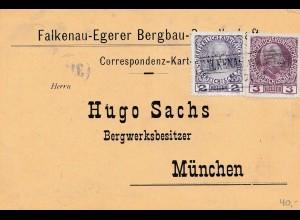 Bergbau: Falkenau-Egerer Bergbau Ges. Eger, 1908 nach München