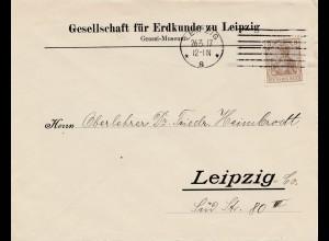 Bergbau: Gesellschaft für Erdkunde zu Leipzig, 1917, Graffi Museum
