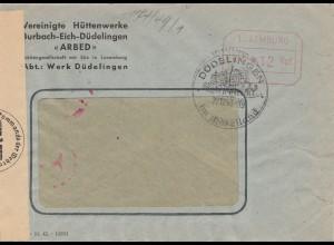 Bergbau: 1943, Hüttenwerke Burbach-Eich-Düdelingen - Zensur, Luxemburg